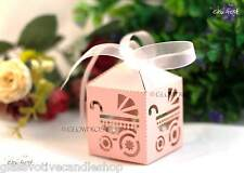 100 X Christening or Baby Shower Gift Favour Box Baby Girl Pink  SYDNEY STOCK