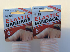 """6"""" ELASTIC Bandage With Clip use for Ankle Wrist Foot athletic support. 3 rolls"""