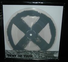 """TEST OF TIME : A Place Beyond CLEAR Color Vinyl GRAY Screenprint 7"""" NEW B9 Grey"""