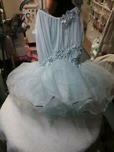 Dance Costume Medium adult. CURTAIN CALL BALLET TUTU BLUE STONE