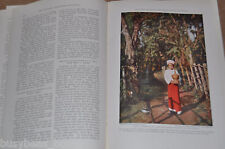 1930 magazine article about Teak Harvesting BURMA elephants natives color photos