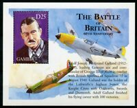 Gambia Aviation Stamps 2000 MNH WWII WW2 Battle of Britain Galland 1v S/S II