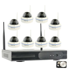 8CH Surveillance Security Camera System Wireless Indoor with 1TB HDD Hard Drive