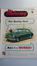 Motoring Magazine October 1955 Featuring Riley M.G. Morris Minor Cowley Oxford