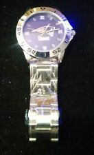 New England Patriots Custom Casual Stainless Steel Band Dress Wrist Watch