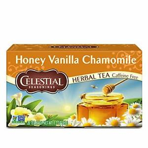 Celestial Seasonings Herbal Tea, Honey Vanilla Chamomile, 20ct (Beatup Box)