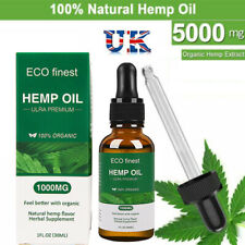 Organic Herbal 5000mg Hemp Extract Oil Drops For Pain Relief Sleep Helpful 30ML