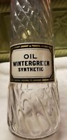 Large Fancy Swirled Oil  Wintergreen Synthetic Original Label Hint Of Sun Color