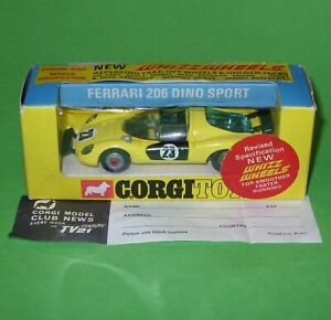 Corgi / 344 Ferrari 206 Dino Sport / Boxed