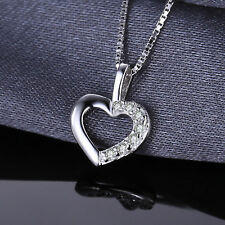 Delicate Sterling Silver Heart Pendant Necklace Cubic Zirconia Special Occasion