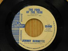 Johnny Burnette 45 Fool  bw Poorest Boy In Town   Liberty G+ To VG- Teen