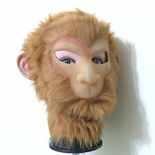 Halloween Monkey King Realistic Silicone Face Mask Actor's Full Head Tricky Toy