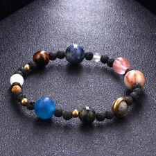 Weave Sonnensystem acht Planeten auf Naturstein Perlen Frauen Armband Schmuck