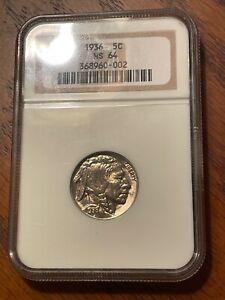 1936 BUFFALO NICKEL ( NGC MINT STATE 64 ) NICE ORIGINAL COIN