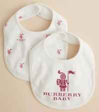 Burberry Children Baby Girls Bertie Set Plastron 100% coton blanc cassé/Rose Bnwt