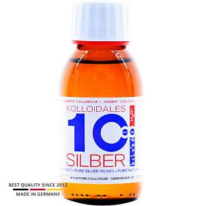 PureSilverH2O® Kolloidales Silber 100ml 10PPM tgl. Produktion ● Made In Germany