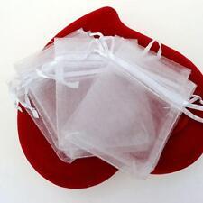 sac pochon organza contenant à dragées décoration baptême mariage.Lot 10pcs