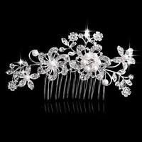 Haarkamm Strass Braut Blumen Haarschmuck Hochzeit Frisur Fest Luxus Mode Neu