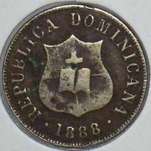 Dominican Republic 1888 2.5 Centavos 2 1/2 290734 combine