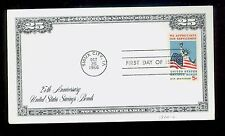 #1324 5c Savings Bonds FDC Mellone #6 1st Bordercraft Cachet UA Cat $25 FD2194