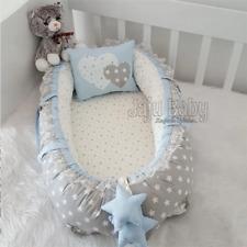 Baby Special Hand Made Gray Star Baby nest Orthopedic Baby Nest Crib Bedding