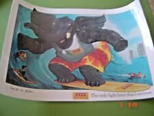 Xxxx Light Bitter Crack a Tube Big Ears Poster as New 60 Cm X 42 Cm Laminated