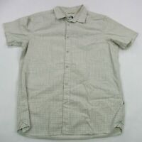 The North Face Men's Button Down Checks Shirt Large Camping Short Sleeve Vintage