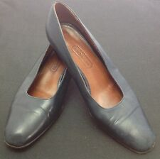 COACH Navy Blue Womens Shoes Pumps Classic Italy Sz 7 Medium Leather