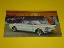 1963 CHEVROLET CORVAIR MONZA CONVERTIBLE POSTCARD, DEALER ADVERTISEMENT