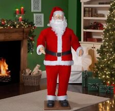 Life Size Santa Claus Animated Dancing Singing Sound 6 Feet Christmas Home Decor