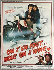 Affiche ON S'EN FOUT NOUS ON S'AIME Michel Gérard ARIEL BESSE Moto 40x60cm