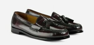 COLE HAAN PINCH TASSEL PENNY MEN'S BURGUNDY LEATHER Wide(E) SHOES, #03507