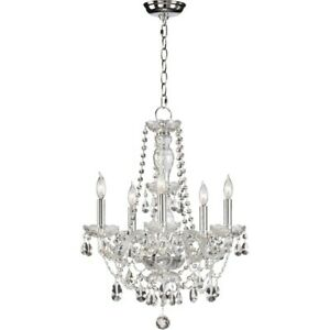 Quorum Bohemian Katerina 5 Light Chandelier, Chrome - 630-5-514