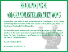 SHAOLIN KUNG FU HAND & WEAPONS FORMS (2) DVD SET 5 animal style 5 family
