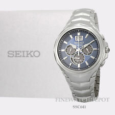 Authentic Men's Seiko Coutura Solar Chronograph Stainless Steel Watch SSC641