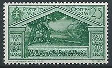 1930 REGNO VIRGILIO 25 CENT MNH ** - T167-5