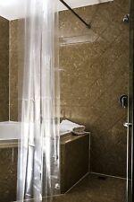 TECHTONGDA NEW  SOLID CLEAR  WATER REPELLANT BATHROOM SHOWER CURTAIN  PEVA LINER