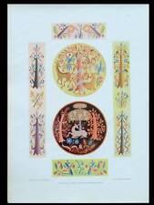 ANNIE TIERNEY, ARBRES ET ANIMAUX -1924- LITHOGRAPHIE ART DECO