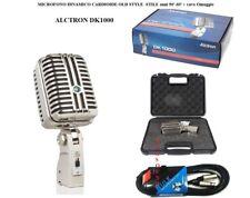 ALCTRON DK1000 MICROFONO DINAMICO VINTAGE IN METALLO OLD STYLE 50  60  ... 046ffa3347f4
