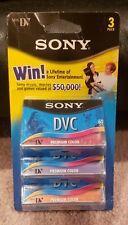 Sony DVC Mini Digital Video Cassettes Premium Series 3-Pack Colored - NEW