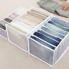 1 STÜCK T-Shirt Jeans Schrank Kleidung Hosenfach Aufbewahrungsbox Fach Organizer