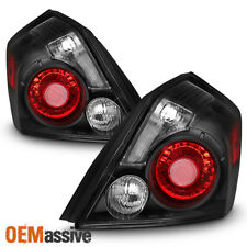Fits 2007-2012 Altima Sedan Black Tail Lights Replacement Brake Lamps Left+Right