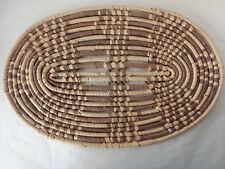Oval Wicker Rattan Placemats Set of 4