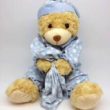 Teddy Bear Plush Toy Baby Boy Birthday Easter Gift  Blue Christening Child 33 cm