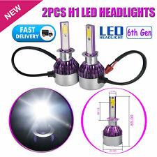 2x H1 120W CREE LED Fog DRL Driving Car Head Light Lamp Bulbs White Super Bright