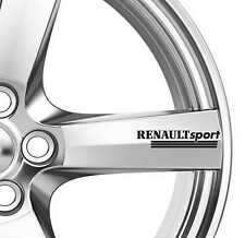 8 x Renault Sport Alloy Wheels Decals Stickers Adhesives Megane