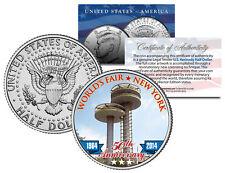 1964 New York WORLD'S FAIR 50th Anniv OBSERVATION TOWERS Coin JFK Half Dollar US