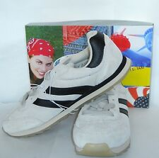 SOHO NY BEIGE LEATHER JOG SNEAKERS SIZE 10 NEW WITH BOX !!!