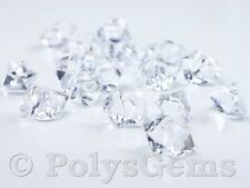 120 SMALL CRYSTAL CLEAR ACRYLIC ICE CHUNKS - VASE FILLERS WEDDING TABLE SCATTERS