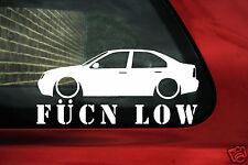 fukn low car sticker - for VW Bora / Jetta mk4 lowered